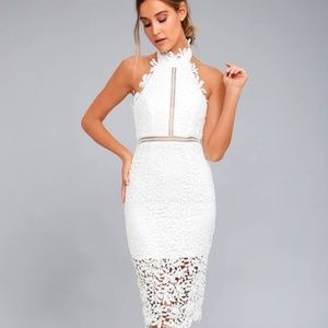Stunning Super fitting Lace Halter Dress
